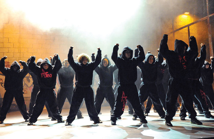 Ultz won an Olivier for outstanding achievement in an affiliate theatre for Pied Piper – A Hip-Hop Dance Revolution, seen here at the Barbican Theatre in 2009. Photo: Tristram Kenton