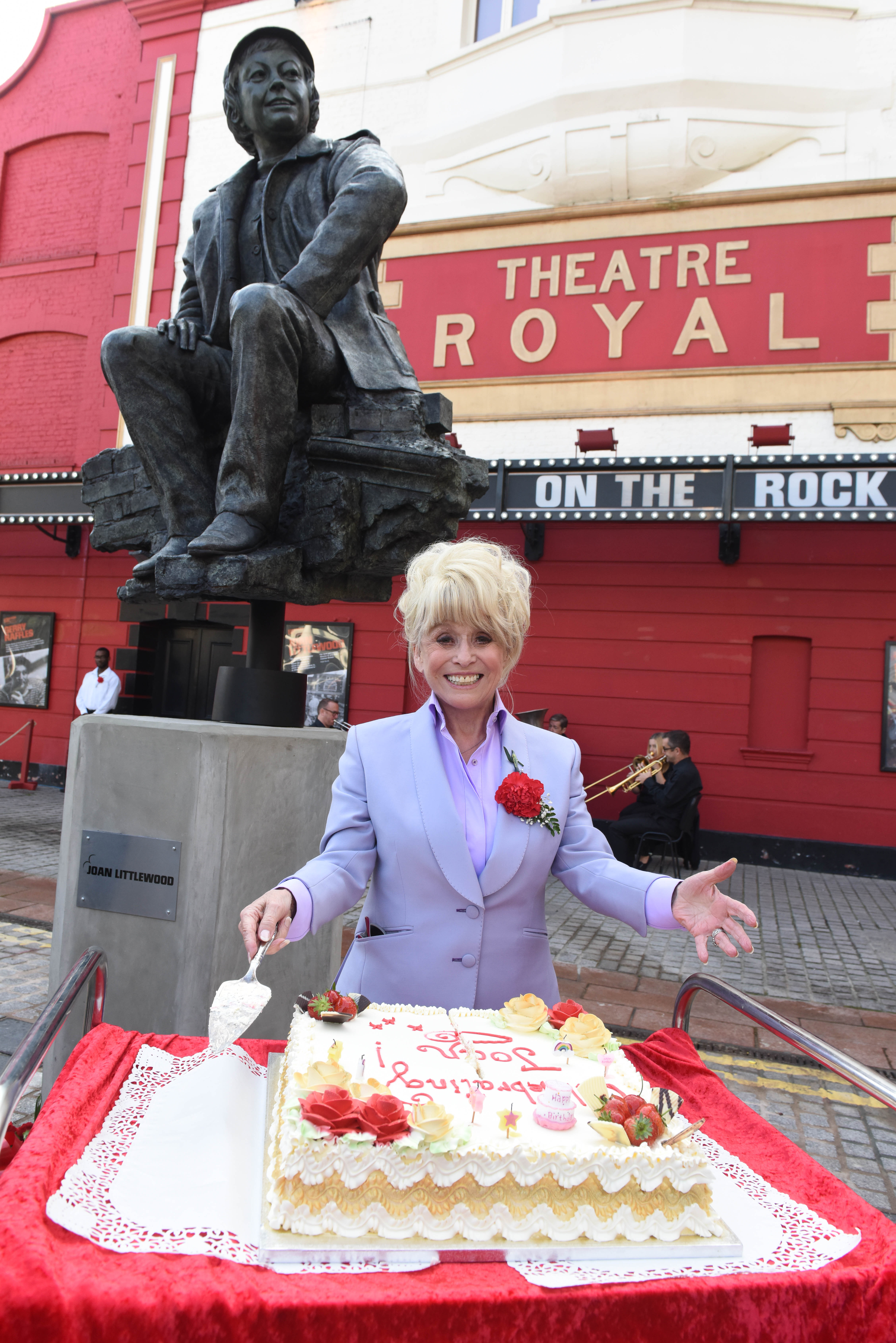 Barbara Windsor attending the unveiling of the statue of Joan Littlewood. Photo: Robert Day
