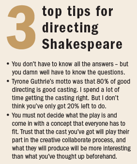gregory doran tips for directing shakespeare
