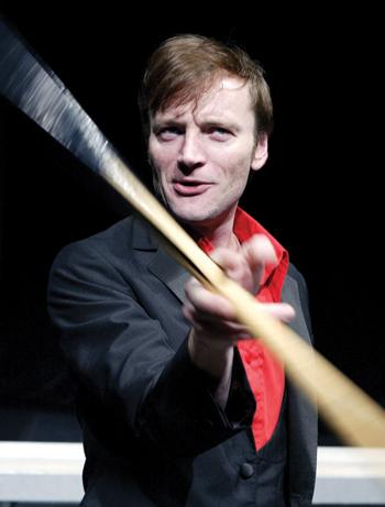 Richard Dormer in Hurricane, directed by Rachel O'Riordan, at the Soho Theatre in 2004