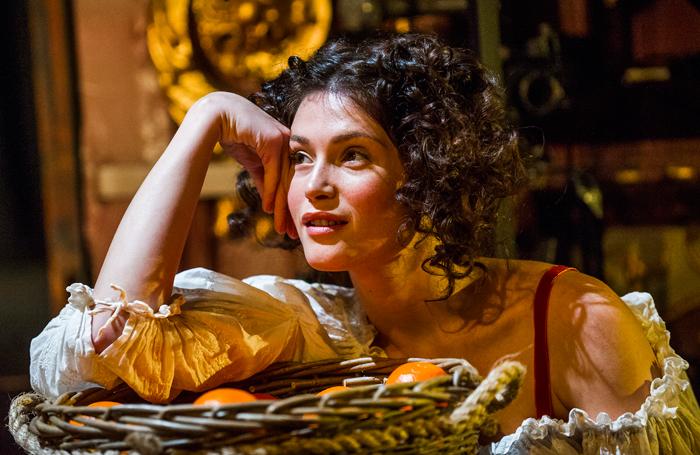 Gemma Arterton in Nell Gwynn at the Apollo Theatre. Photo:Tristram Kenton