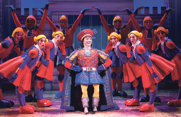 Christian Marriner and company in Shrek the Musical. Photo: Paparazzi by Appointment