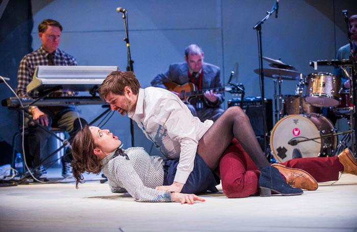 Clare Dunne and John Lightbody in A Midsummer Night's Dream at the Lyric Hammersmith. Photo: Tristram Kenton