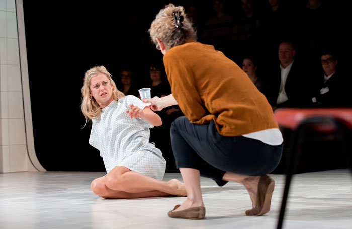 Denise Gough and Barbara Marten in People, Places and Things. Photo: Johan Persson
