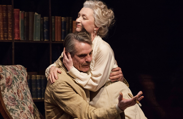 Jeremy Irons and Lesley Manville in Long Day's Journey at Bristol Old Vic. Photo: Hugo Glendinning