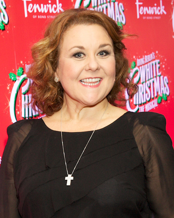 Peters at the opening of White Christmas in 2014. Photo: Piers Allardyce
