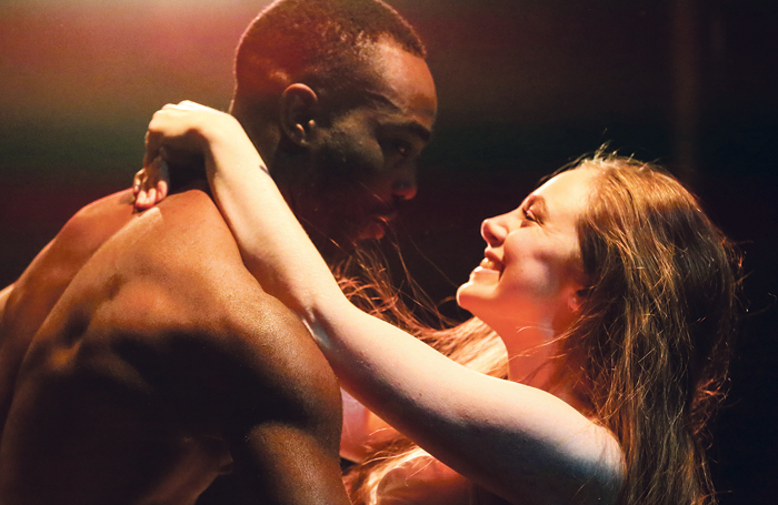 Paapa Essiedu and Daisy Whalley in  Romeo and Juliet, 2015. Photo: Craig Fuller