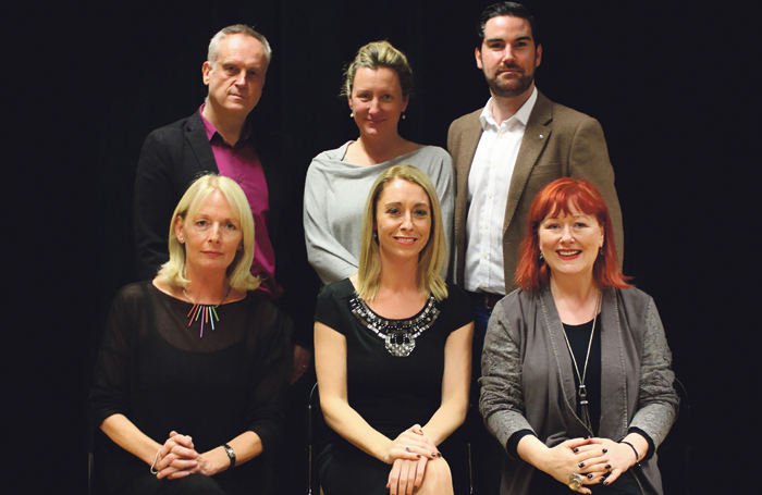 ICMT principal Deirdre Masterson (front row, centre) with fellow staff members. Photo: Eamonn B Shanahan