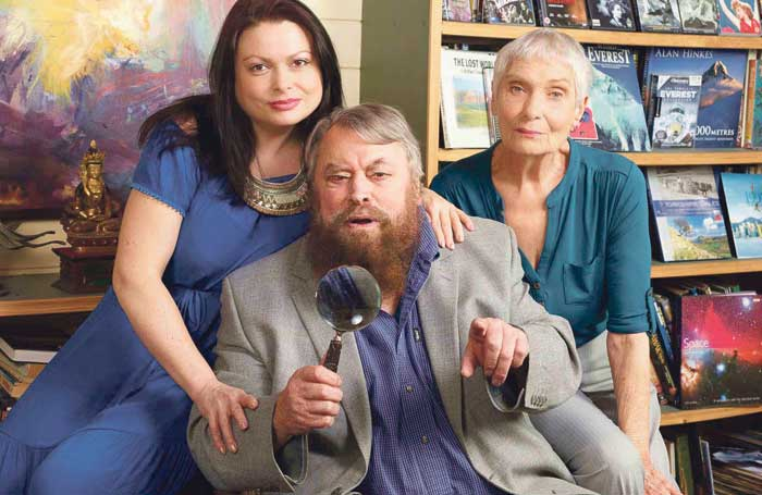 Brian Blessed with daughter Rosalind and wife Hildegard Neil, who are appearing in The Hollow. Photo: Geraint Lewis