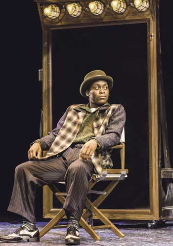 Tyrone Huntley (also left), in Memphis the Musical at the Shaftesbury Theatre