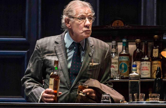 Ian McKellen in No Man's Land. Photo: Johan Persson