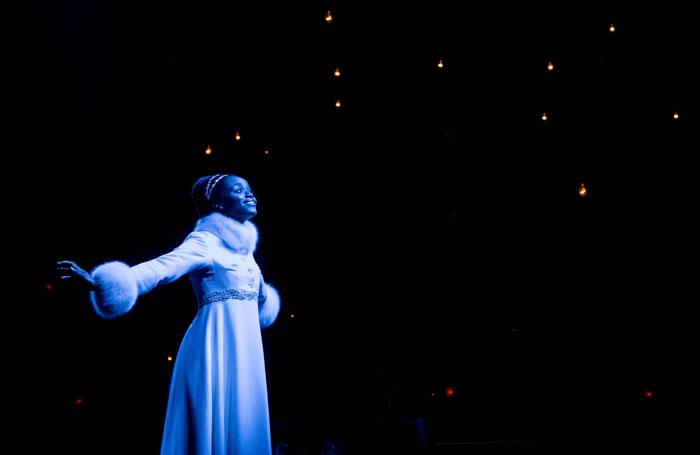 Denee Benton in Natasha, Pierre, and the Great Comet of 1812. Photo: Chad Batka
