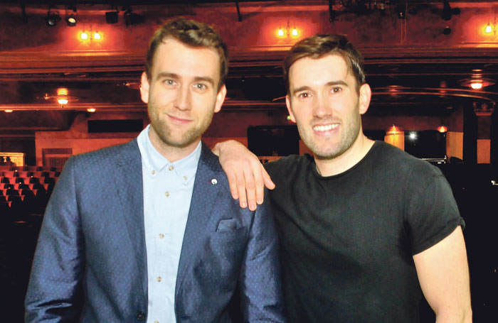 Actor Matthew Lewis visits his brother, cast member Anthony Lewis at the Liverpool Empire. Photo: Papionews
