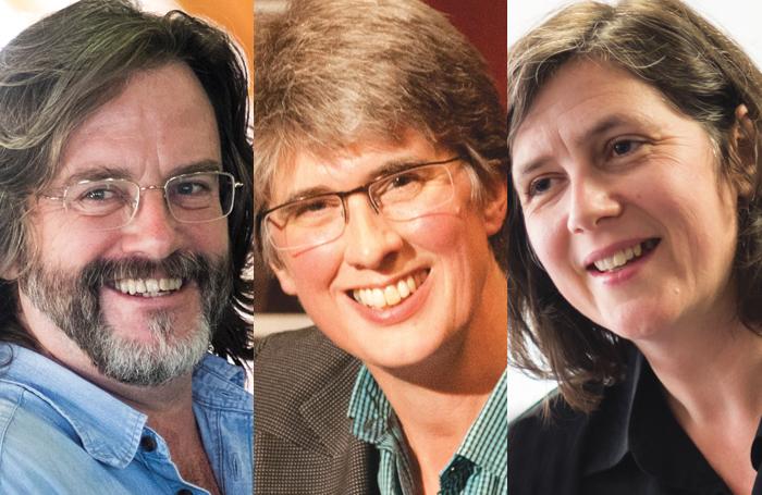 Gregory Doran, Catherine Mallyon, Erica Whyman. Photos: Helen Maybanks/Gina Print/ Topher McGrillis